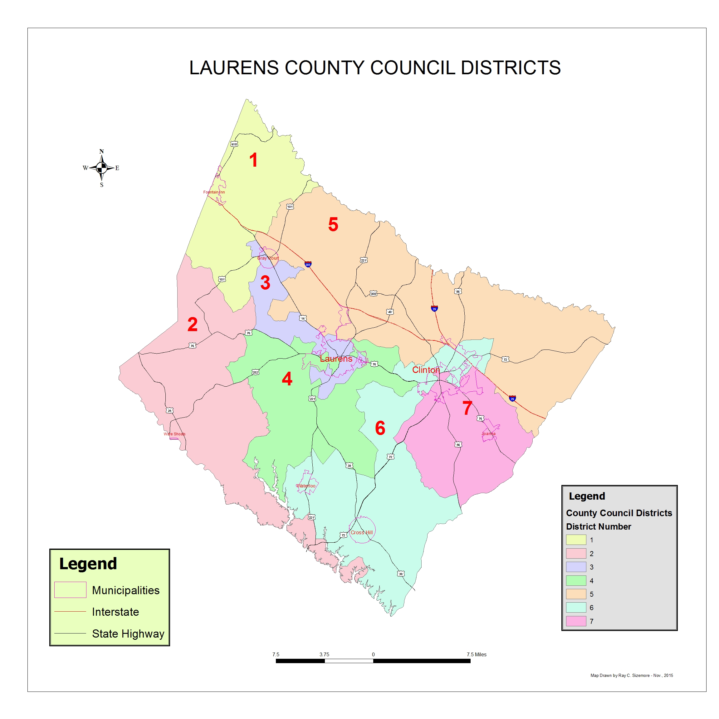 County Council Distrists